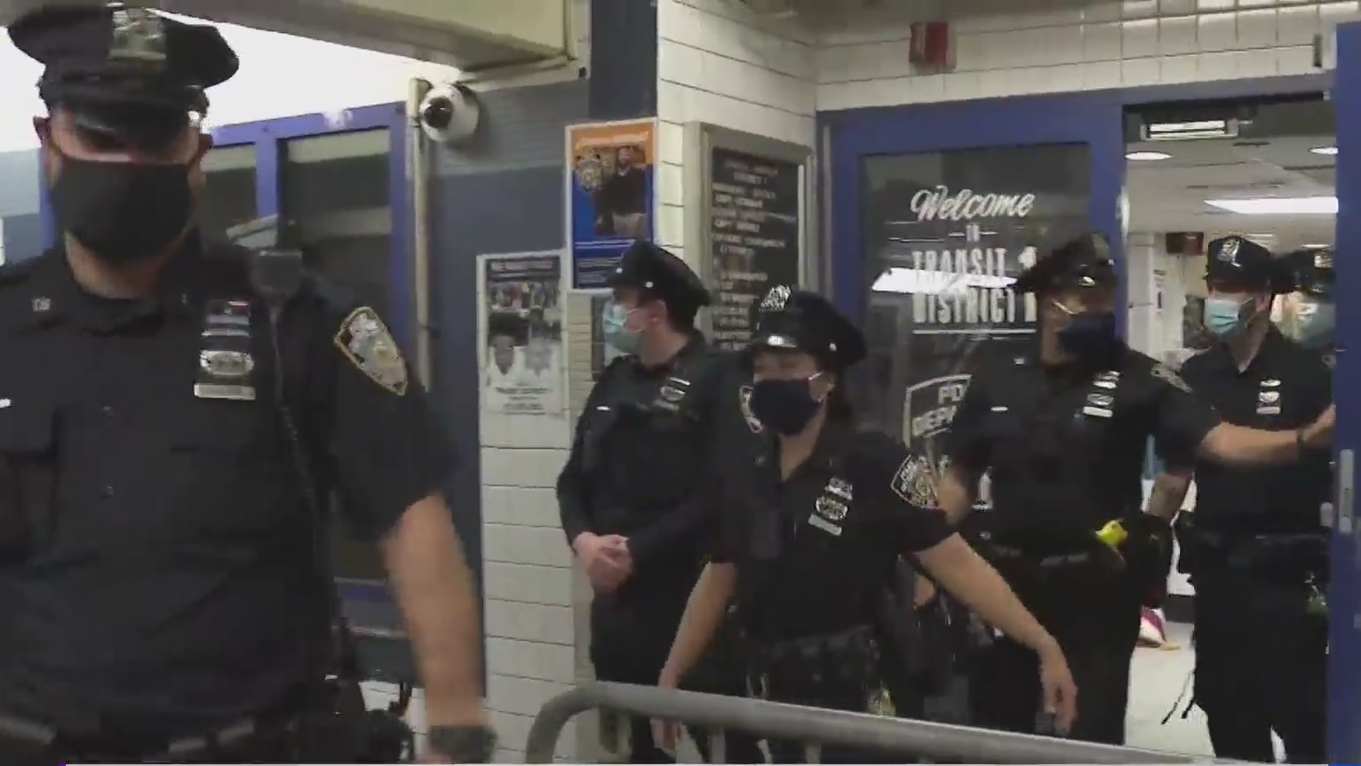 NYPD subway patrol