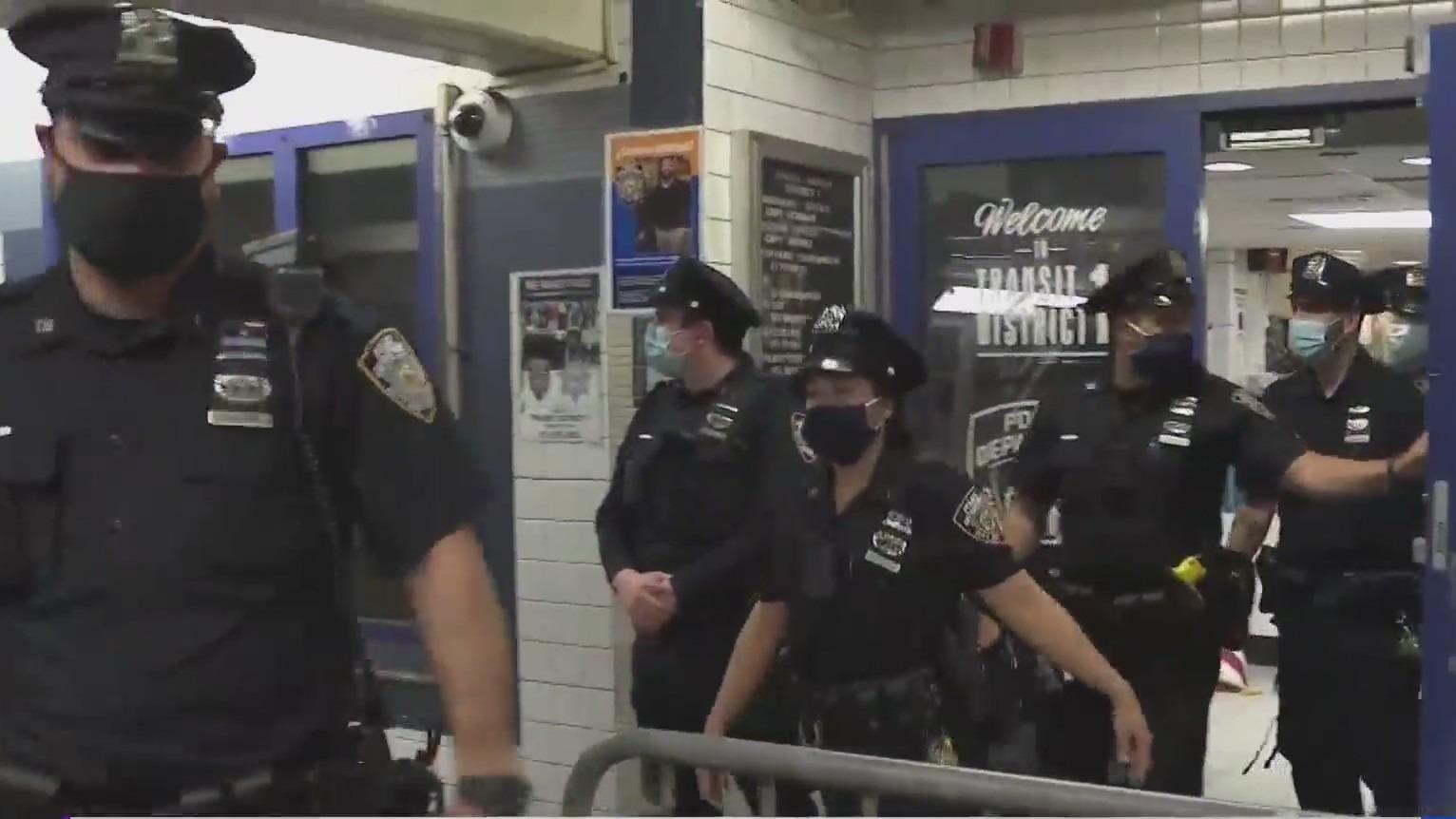 NYPD subway patrol