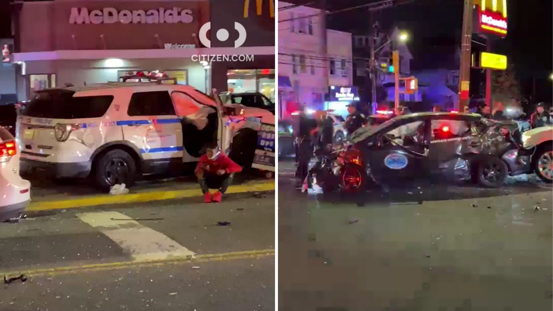 Multiple vehicles involved in a crash that sent a woman, 72, to the hospital seriously injured in Staten Island on Sunday night, May 2, 2021, police said.