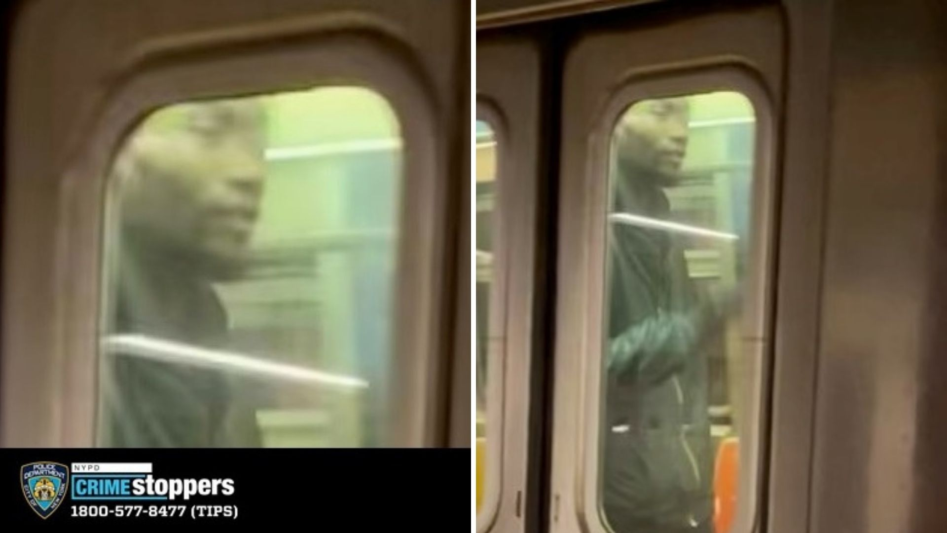 Asian hate crime suspect on subway