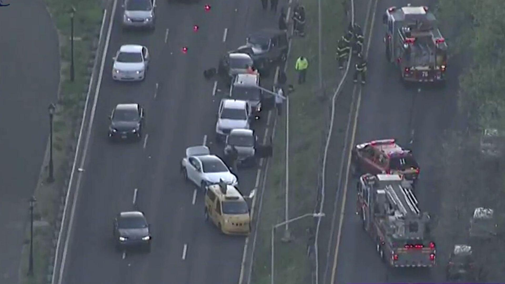 Multi-vehicle crash on Manhattan's West Side Highway
