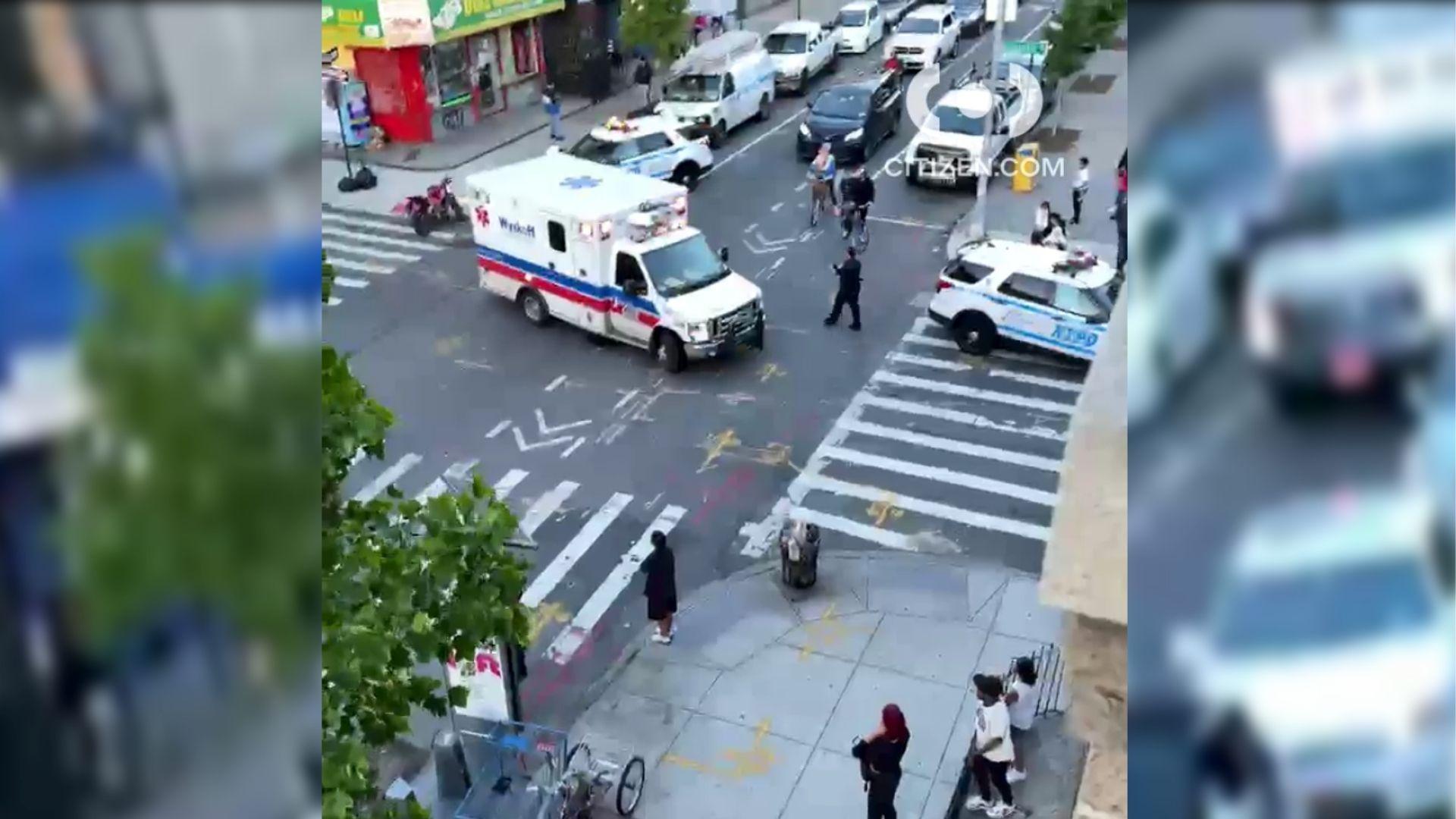 Police on the scene after 5 men were shot in Bushwick, Brooklyn