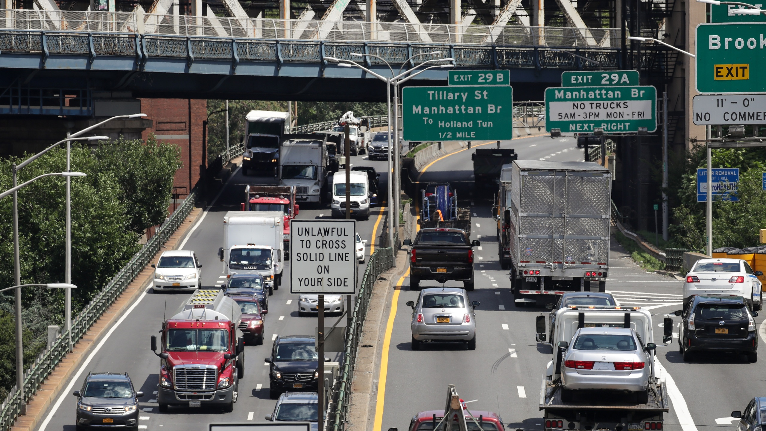 Cars on a New York City highway