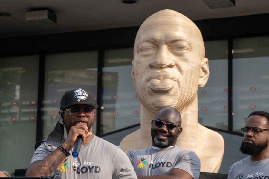 george floyd statue in Brooklyn