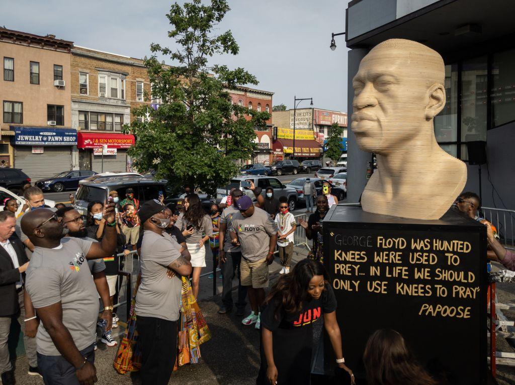 George Floyd statue in Brooklyn vandalized; police investigate as hate crime