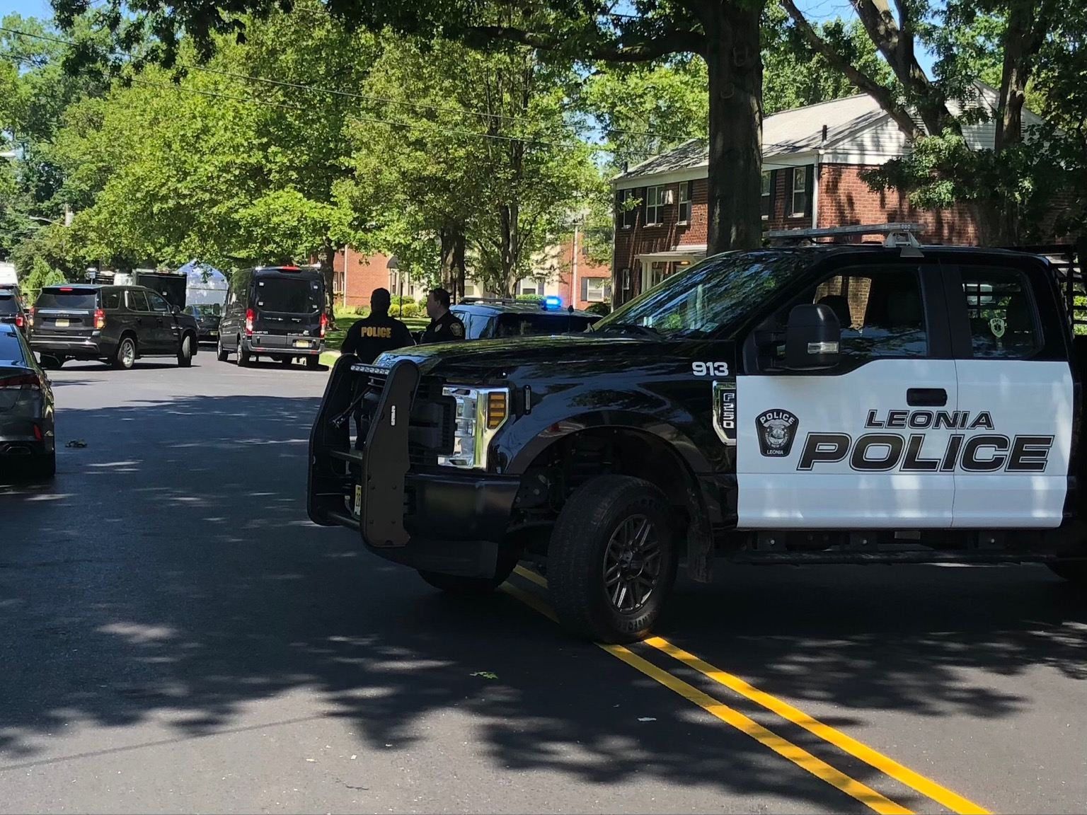 Police respond to FBI shooting in Leonia, New Jersey