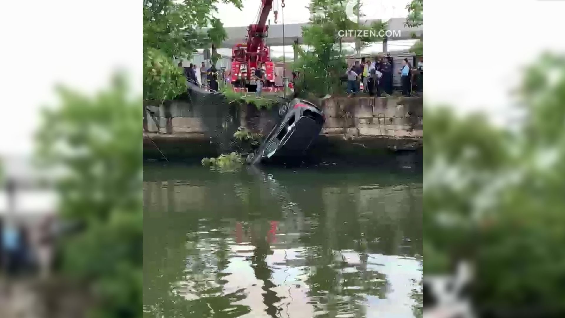 SUV into westchester canal