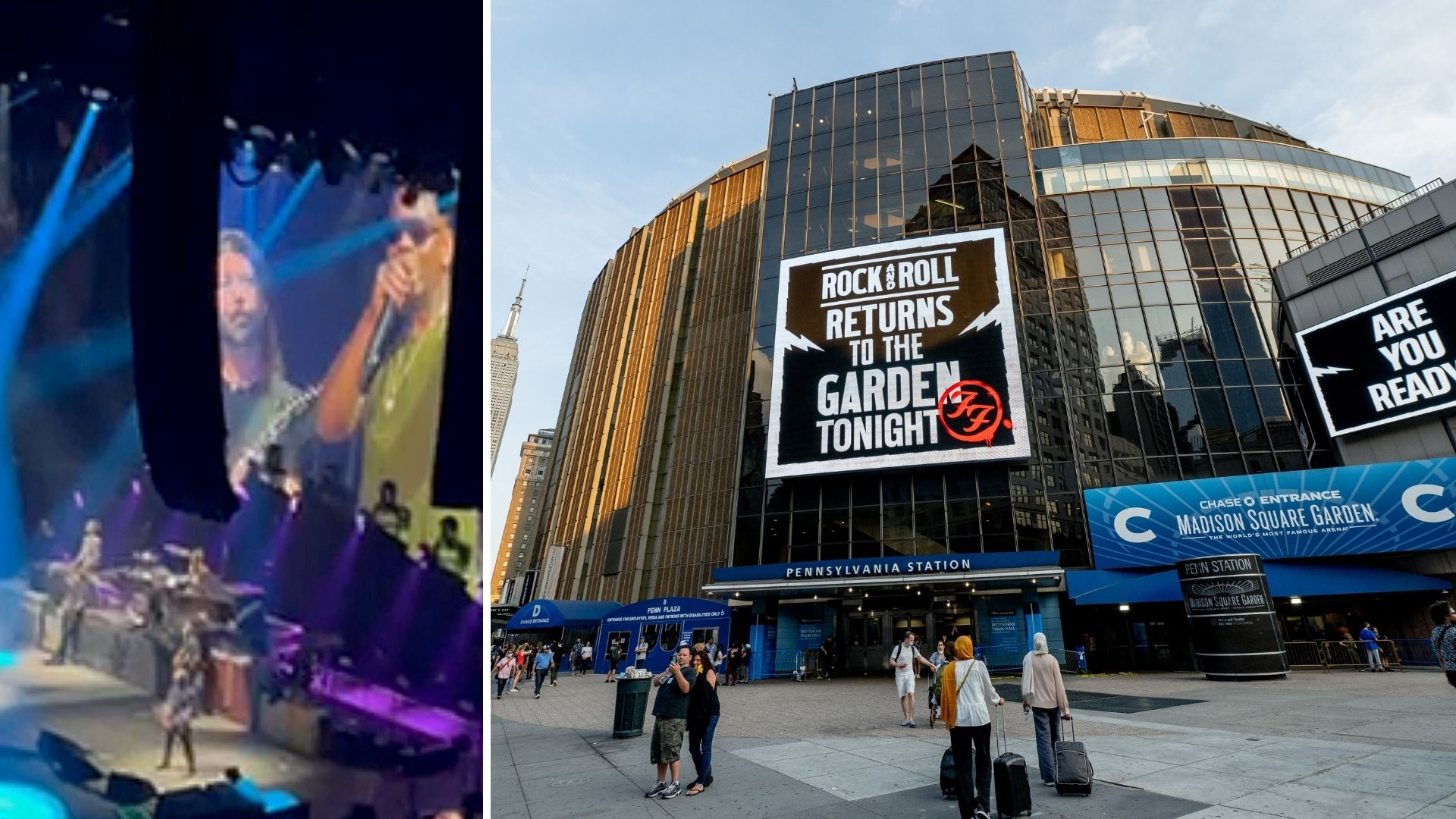 Dave Chappelle sings with Foo Fighters at Madison Square Garden