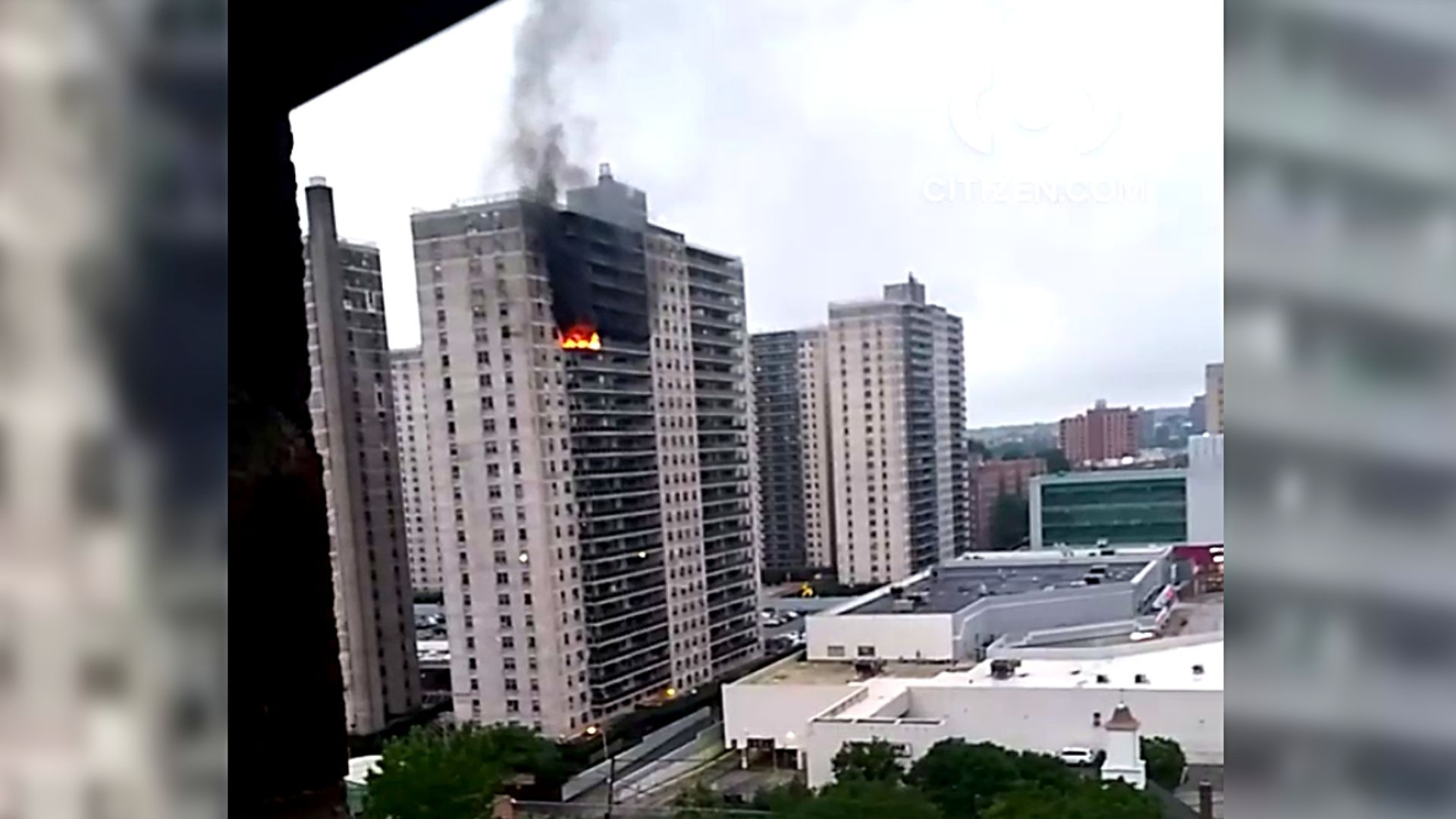 Fire at Concourse Village in the Bronx