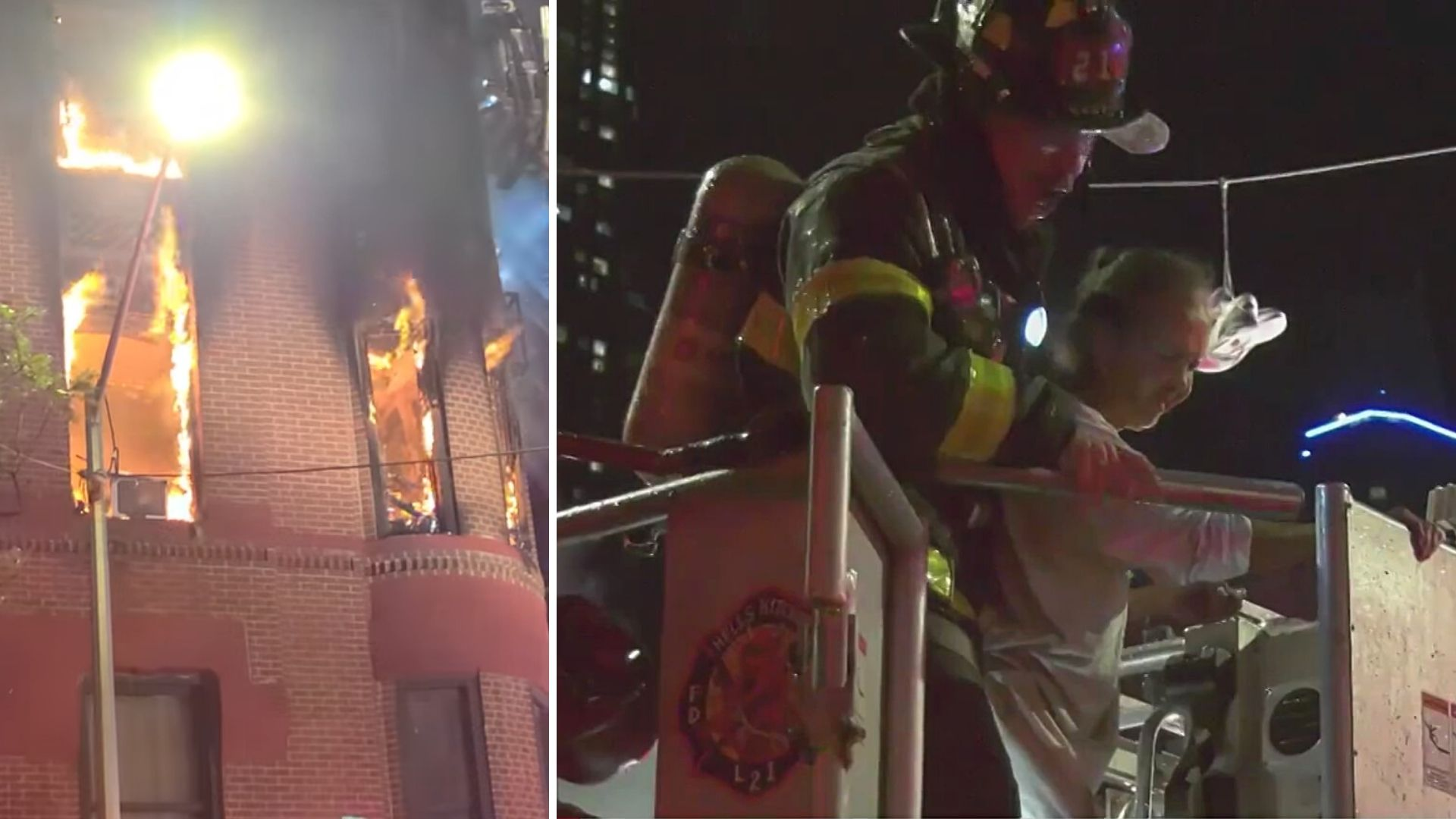 Hell's Kitchen apartment fire
