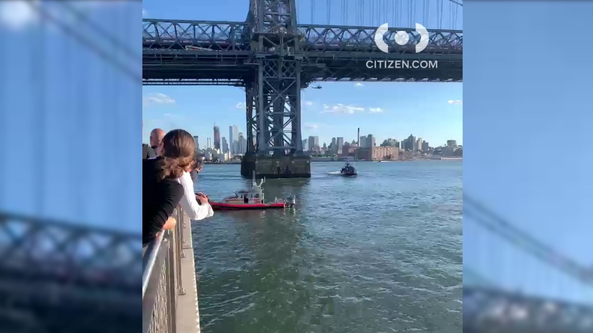NYPD Harbor Unit responds to a man in the water of East River