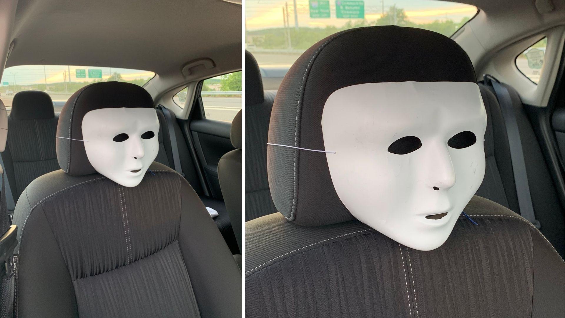 Man puts mask on headrest to use HOV lane on Long Island Expressway