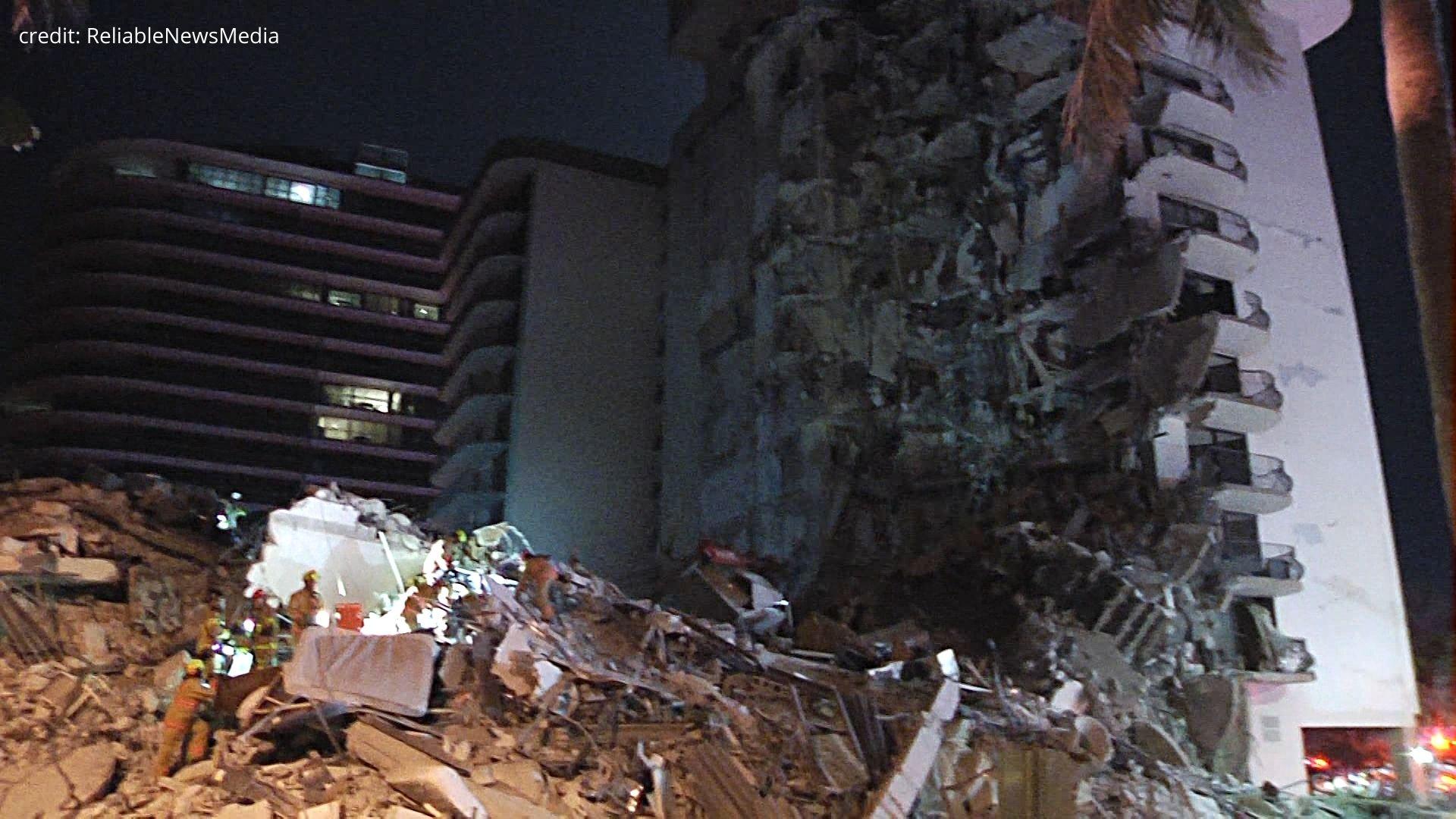 12-story condo building collapses in Miami area