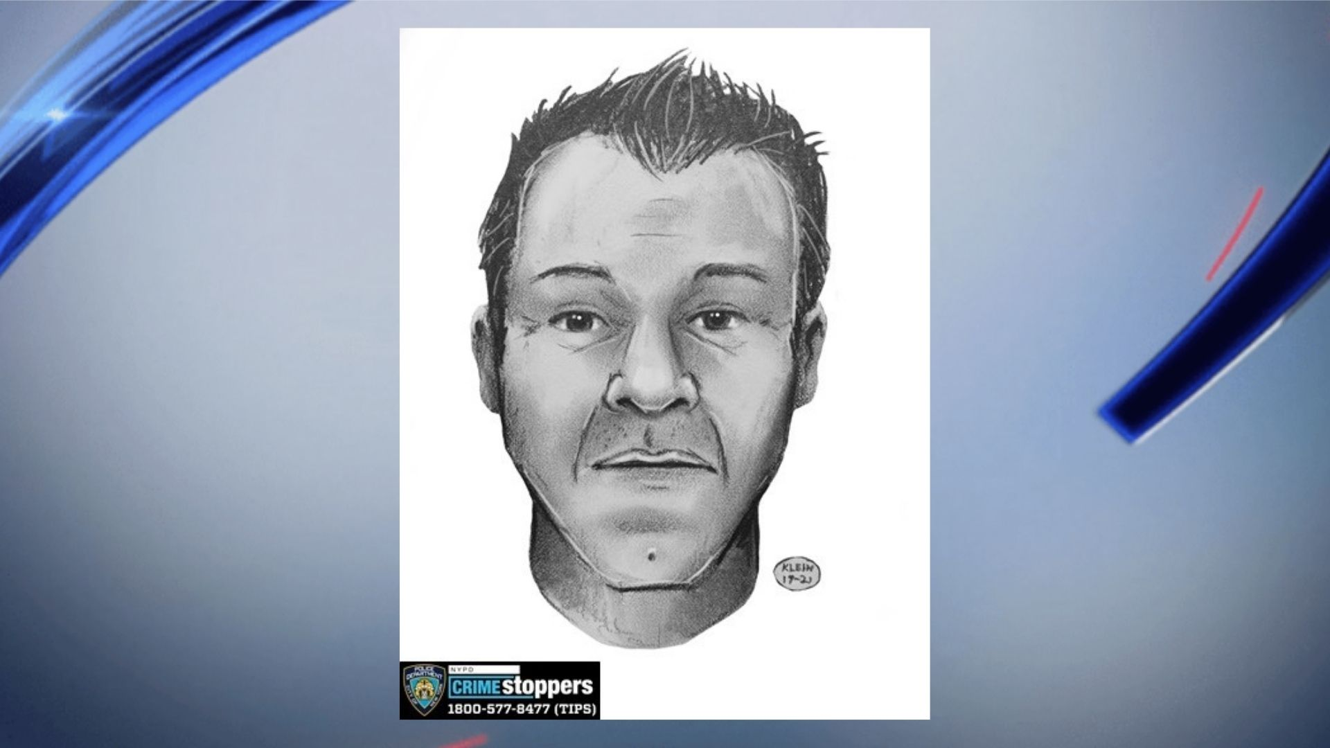 Police sketch of man found floating in East River off Queens