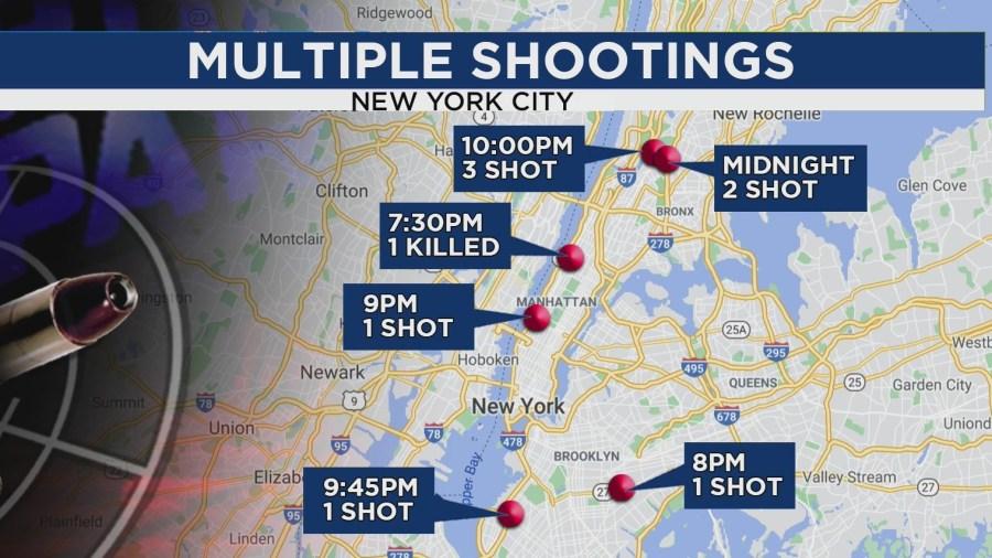 NYC shootings on Monday, June 28, 2021