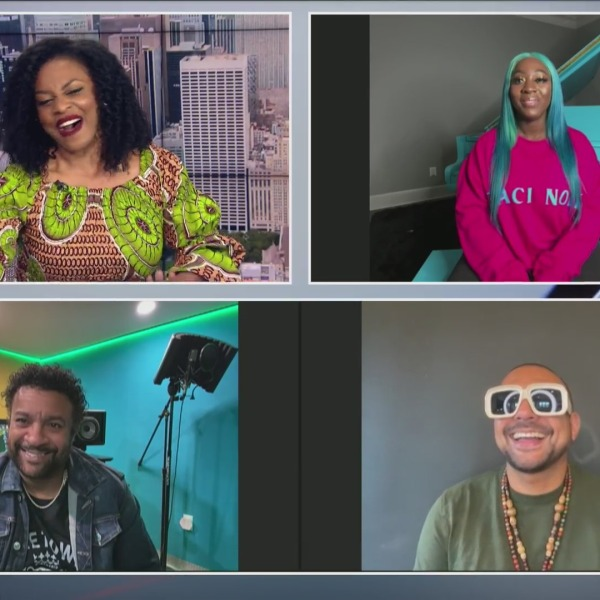 Musicians Spice, Shaggy and Sean Paul on the PIX11 Morning News
