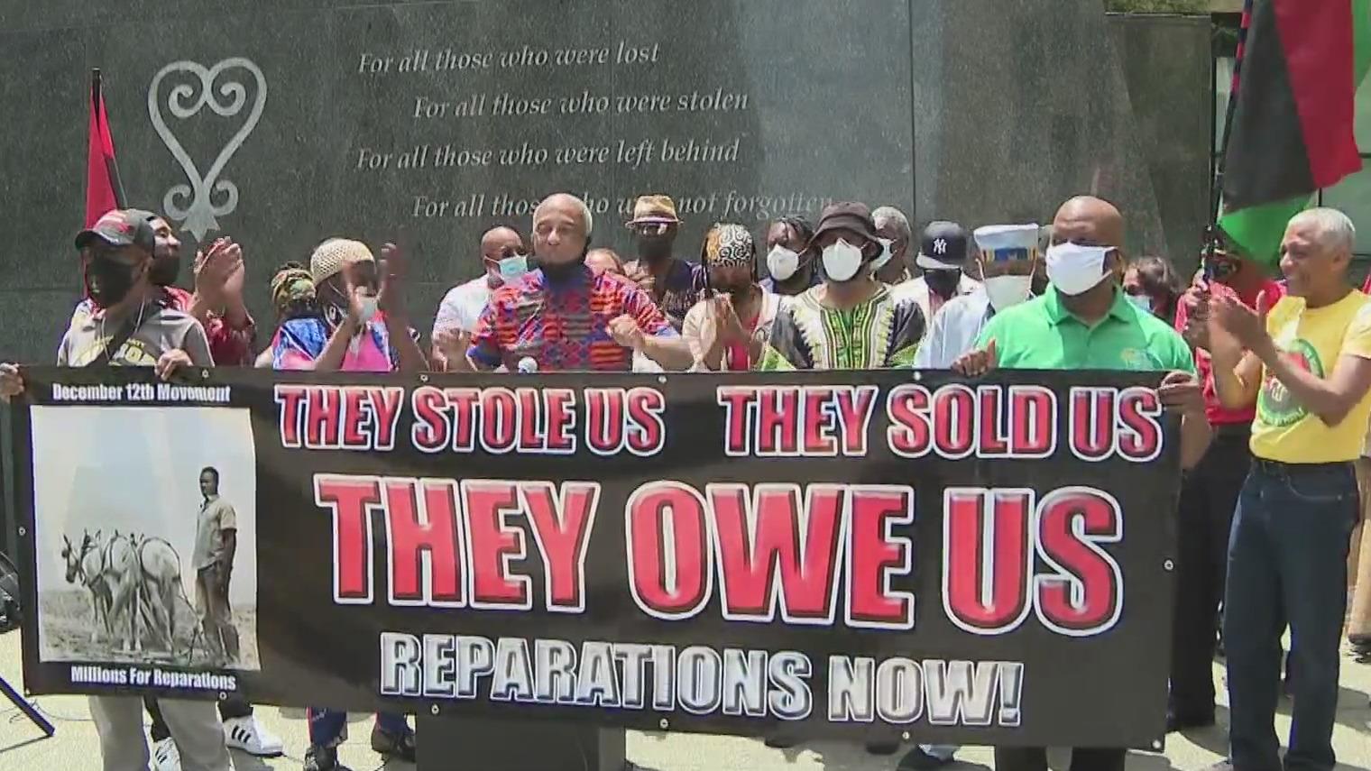 slavery reparations rally