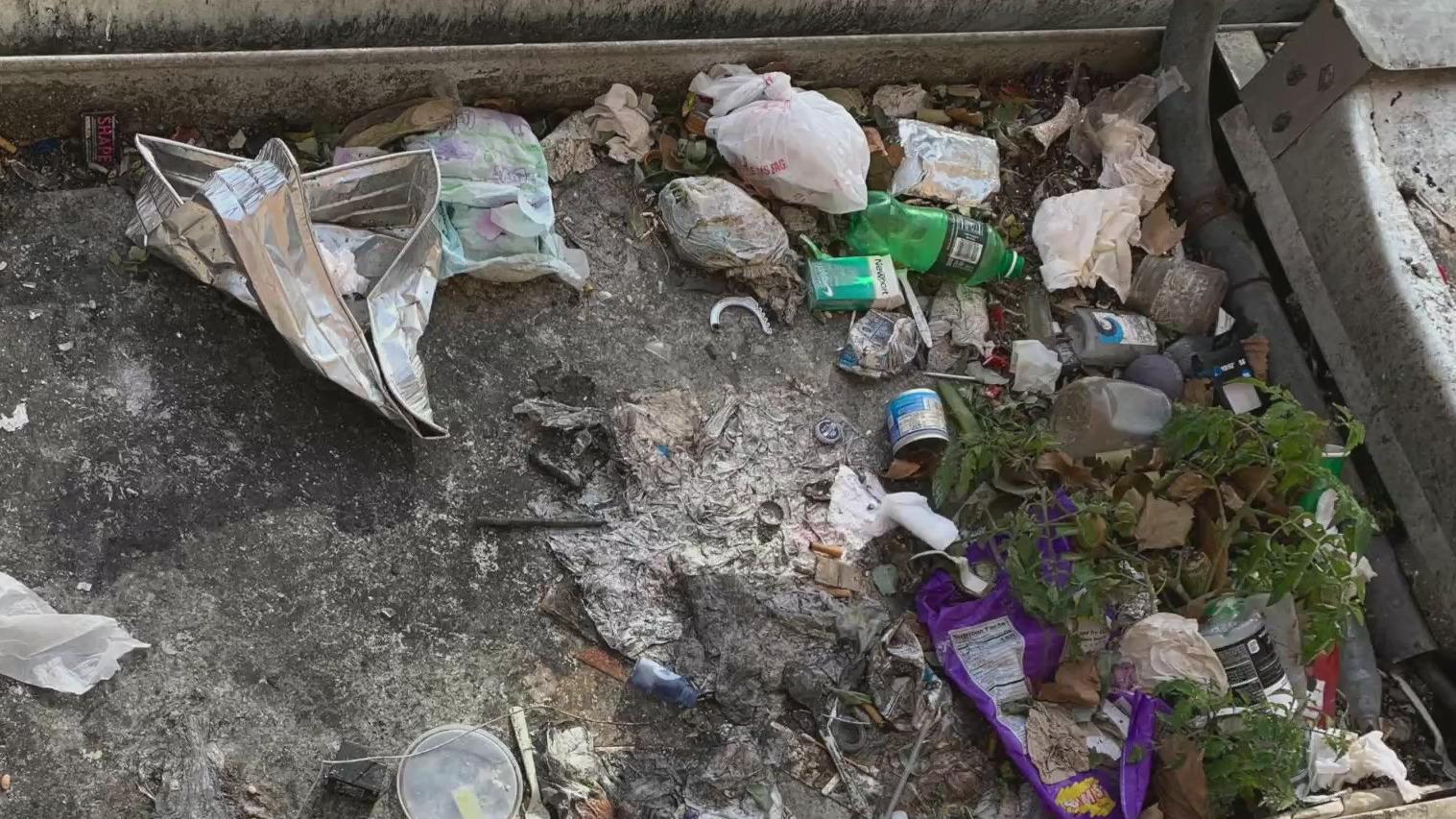 Trash at BK NYCHA facility