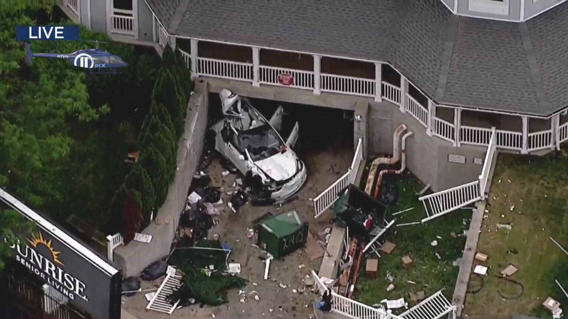 Teen killed in crash into Brooklyn senior facility