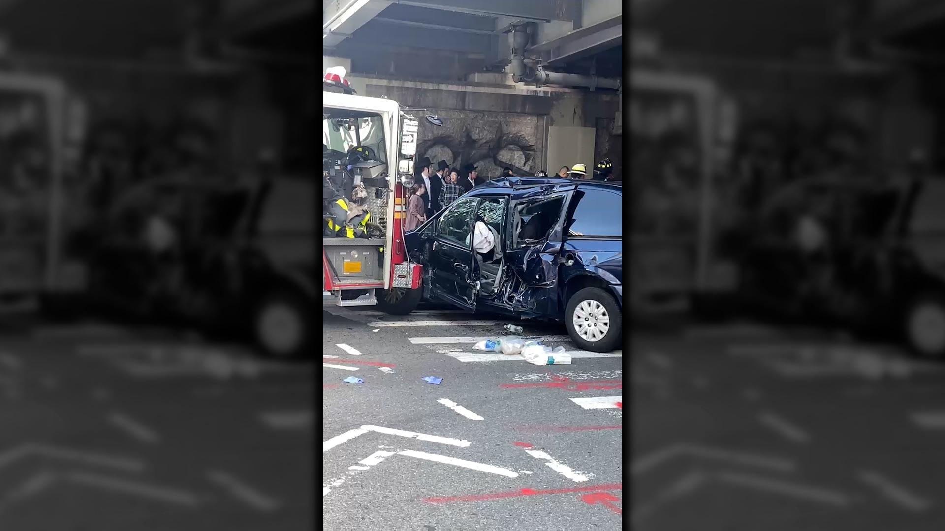 Firetruck collision in Brooklyn