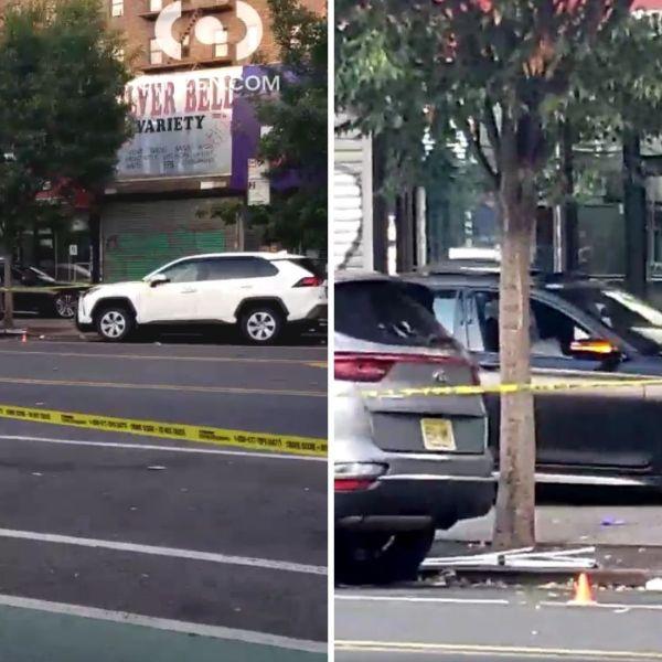 BMW rolls onto Inwood sidewalk after driver shot in head: police