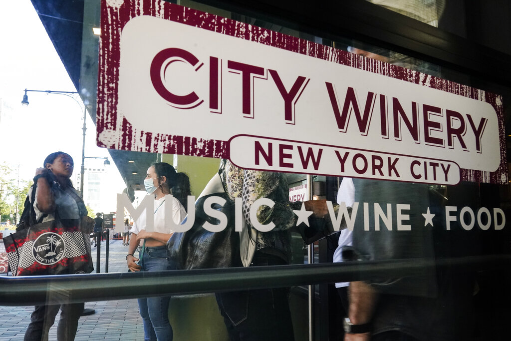 City Winery vaccination proof nyc