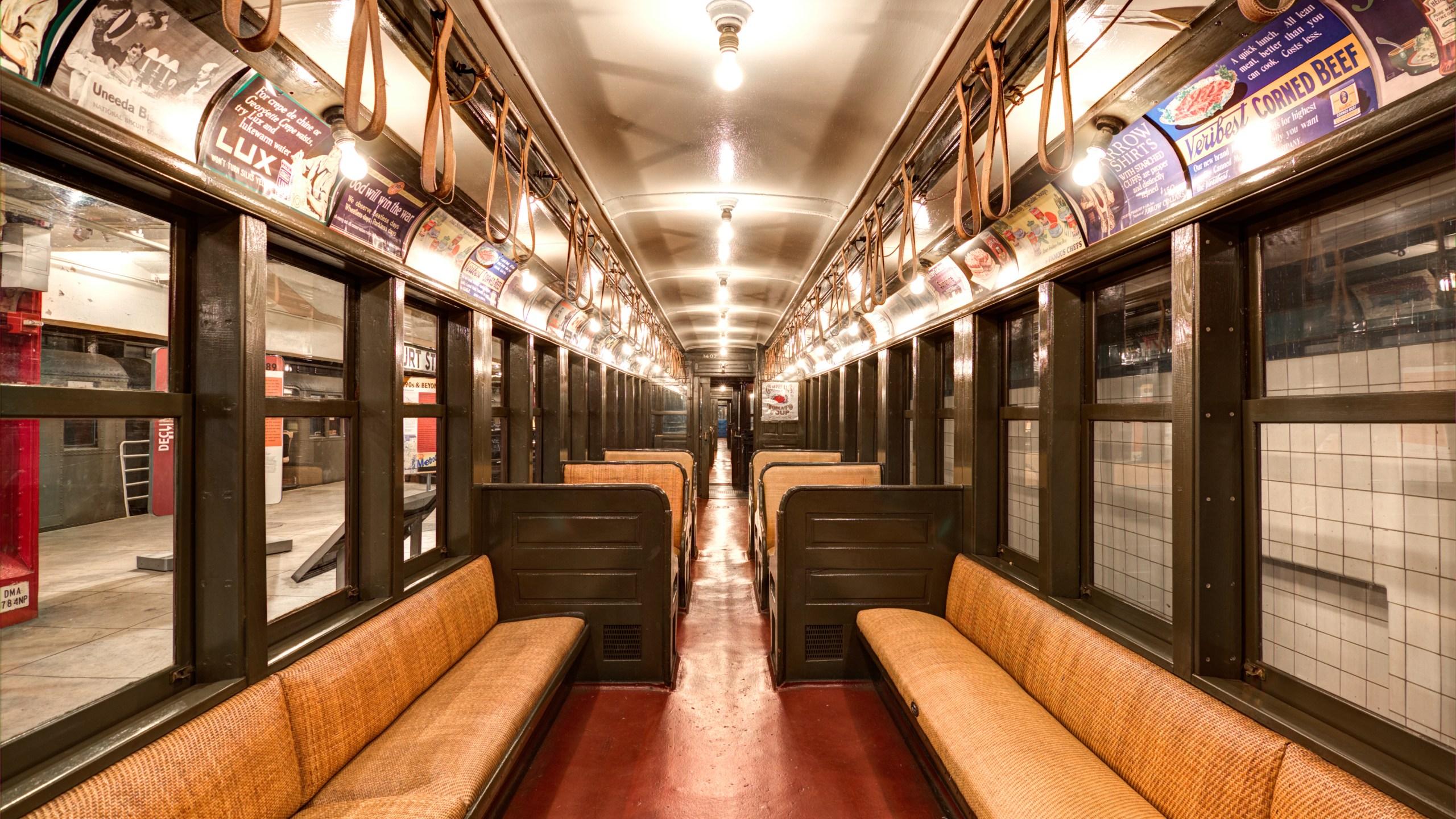 vintage subway car nyc essentia workers parade