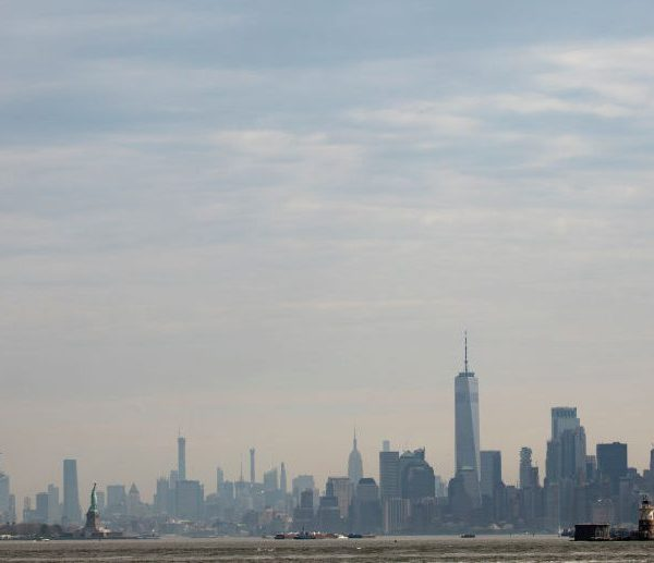Haze NYC skyline