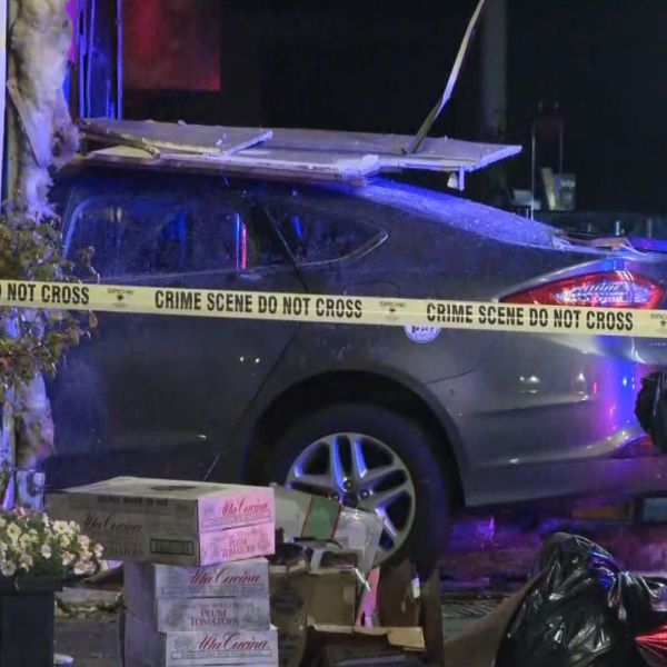 Vehicle crashes into storefronts in Belleville, New Jersey