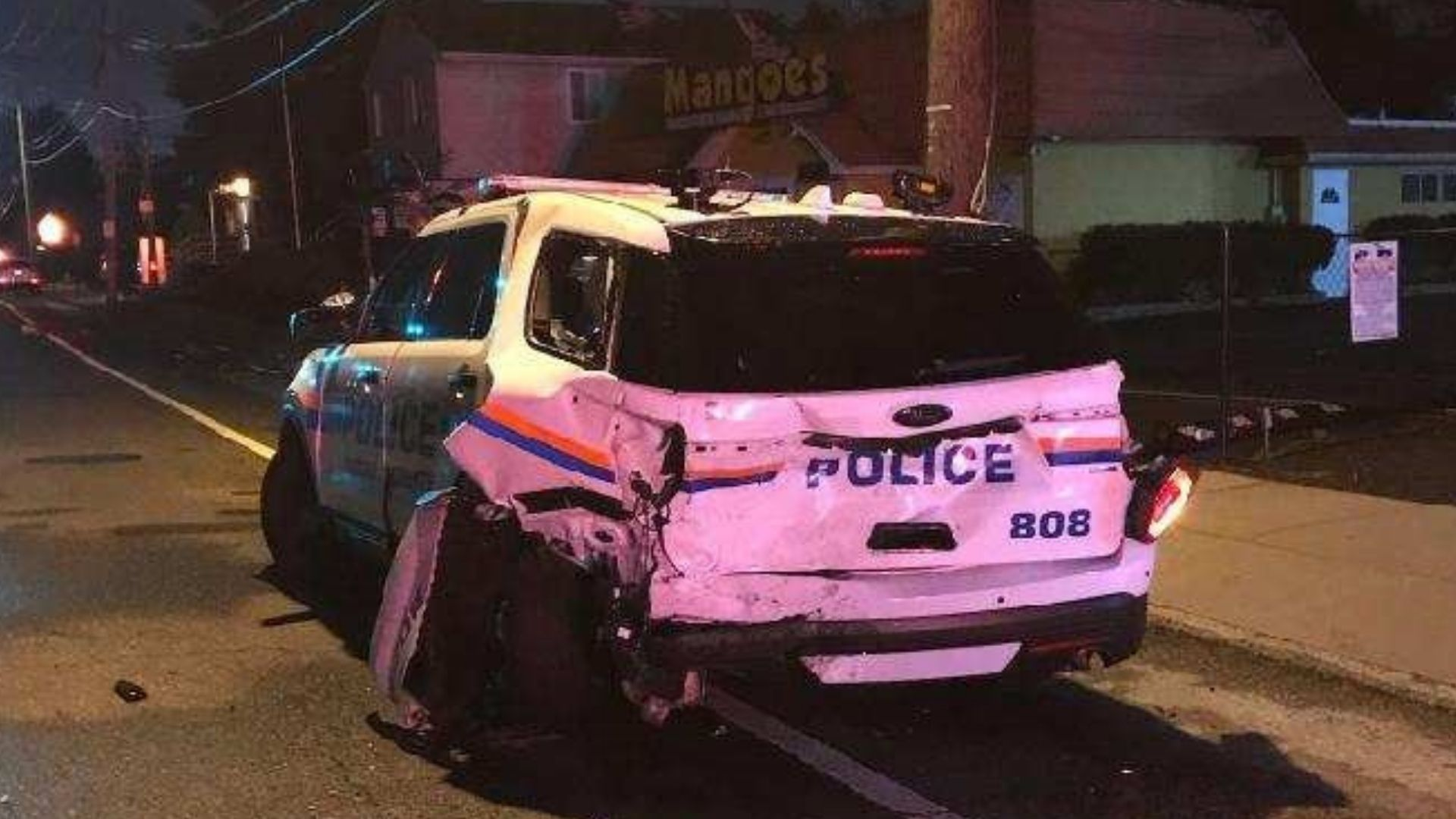 LI police car damage DWI