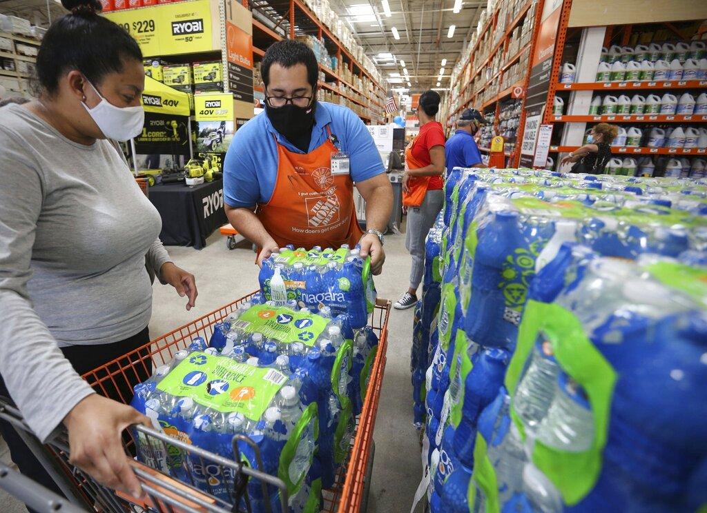 people prepare for tropical storm Elsa in Miami