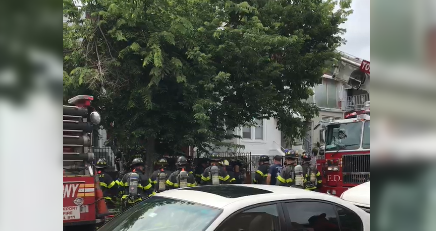 FDNY responds to arson fire in the Bronx