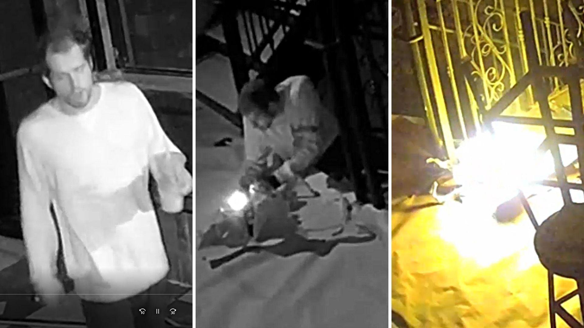 Man starts fire in Manhattan bar