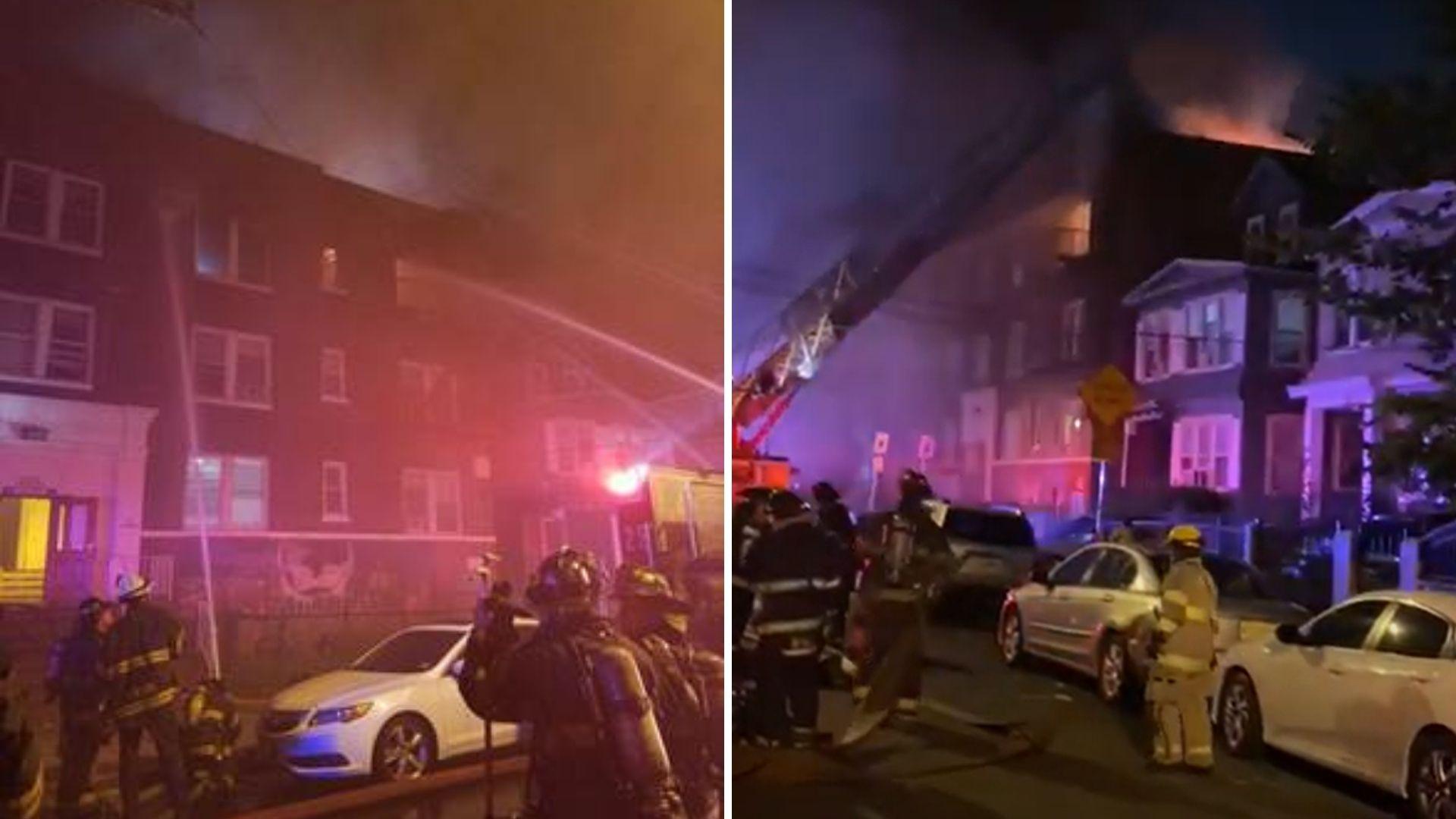 Newark apartment fire