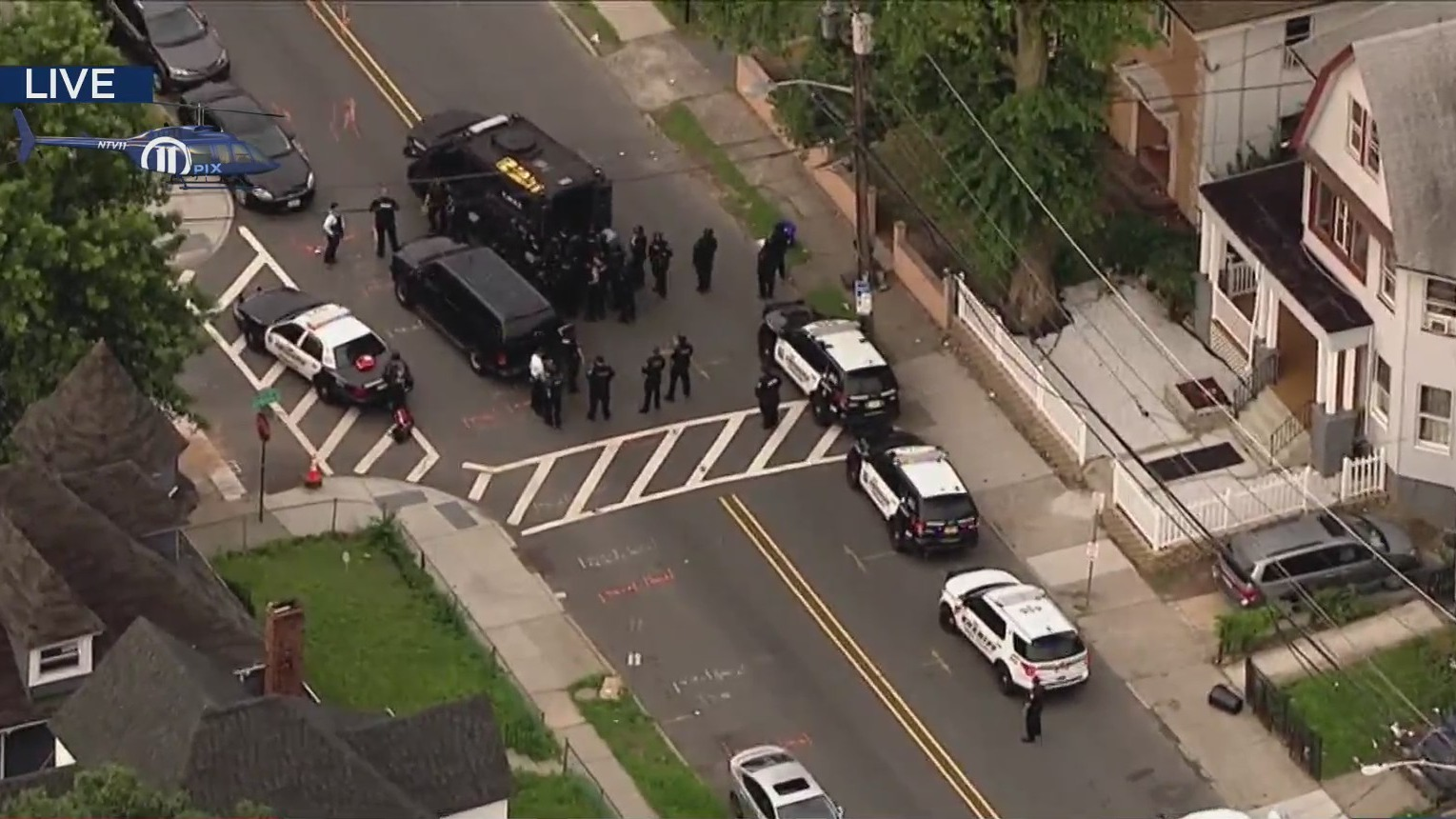 Large police presence in Newark, New Jersey
