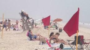 Red flags at Jones Beach