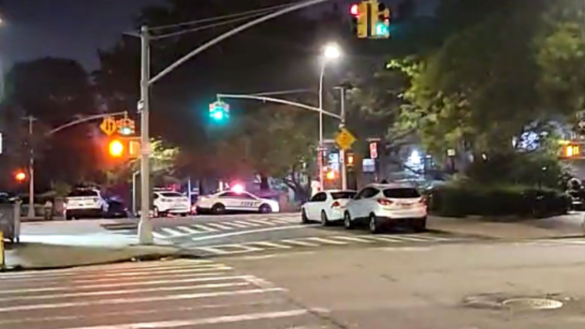Police on the scene after a teen was shot in Harlem