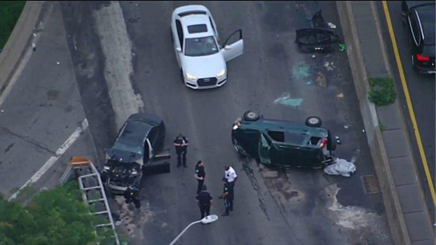 Crash on West Side Highway