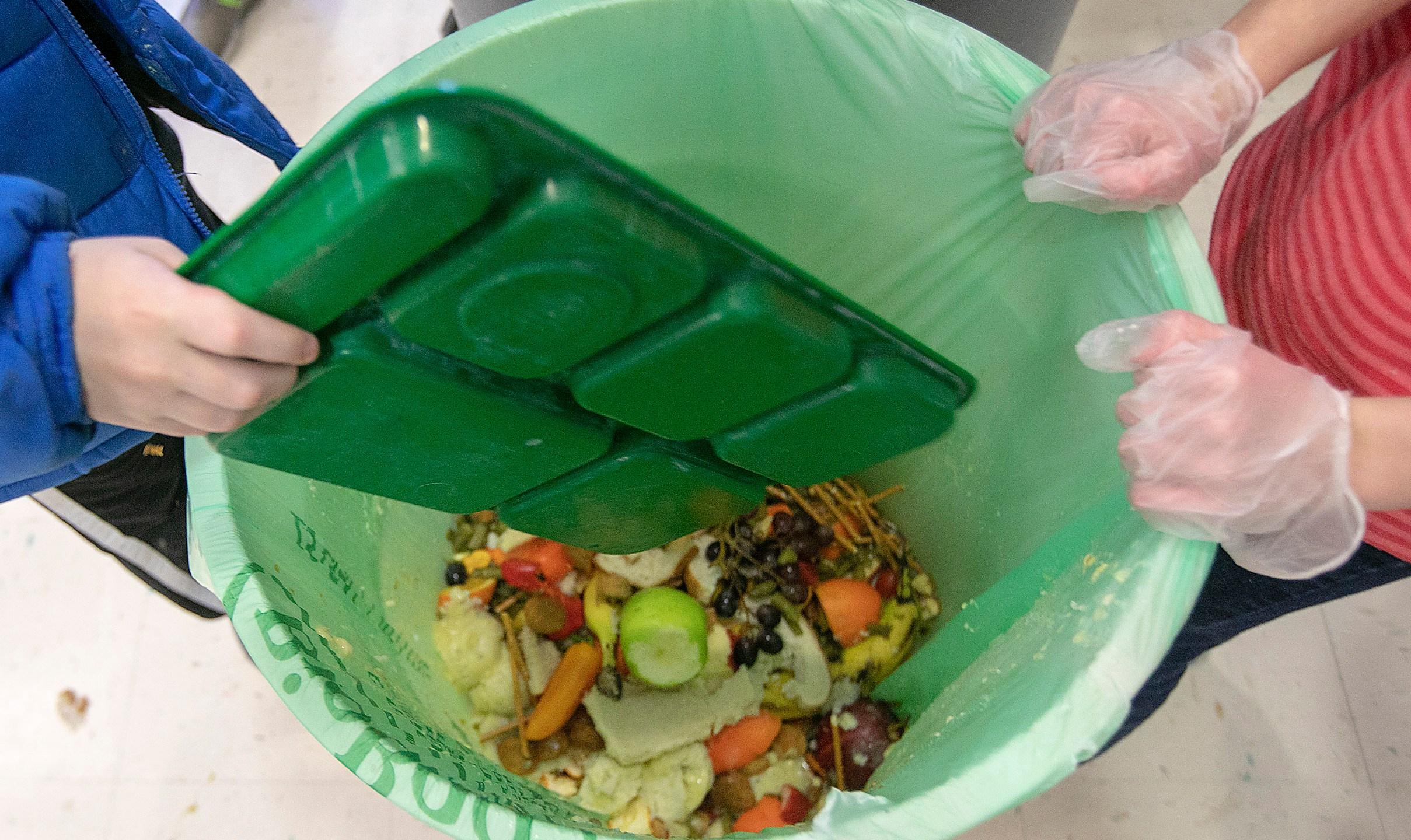 Food thrown in trash