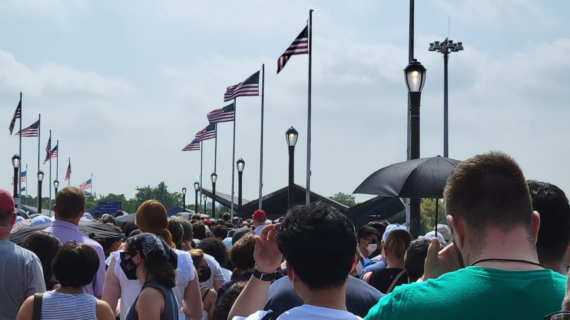Long lines at the US Open