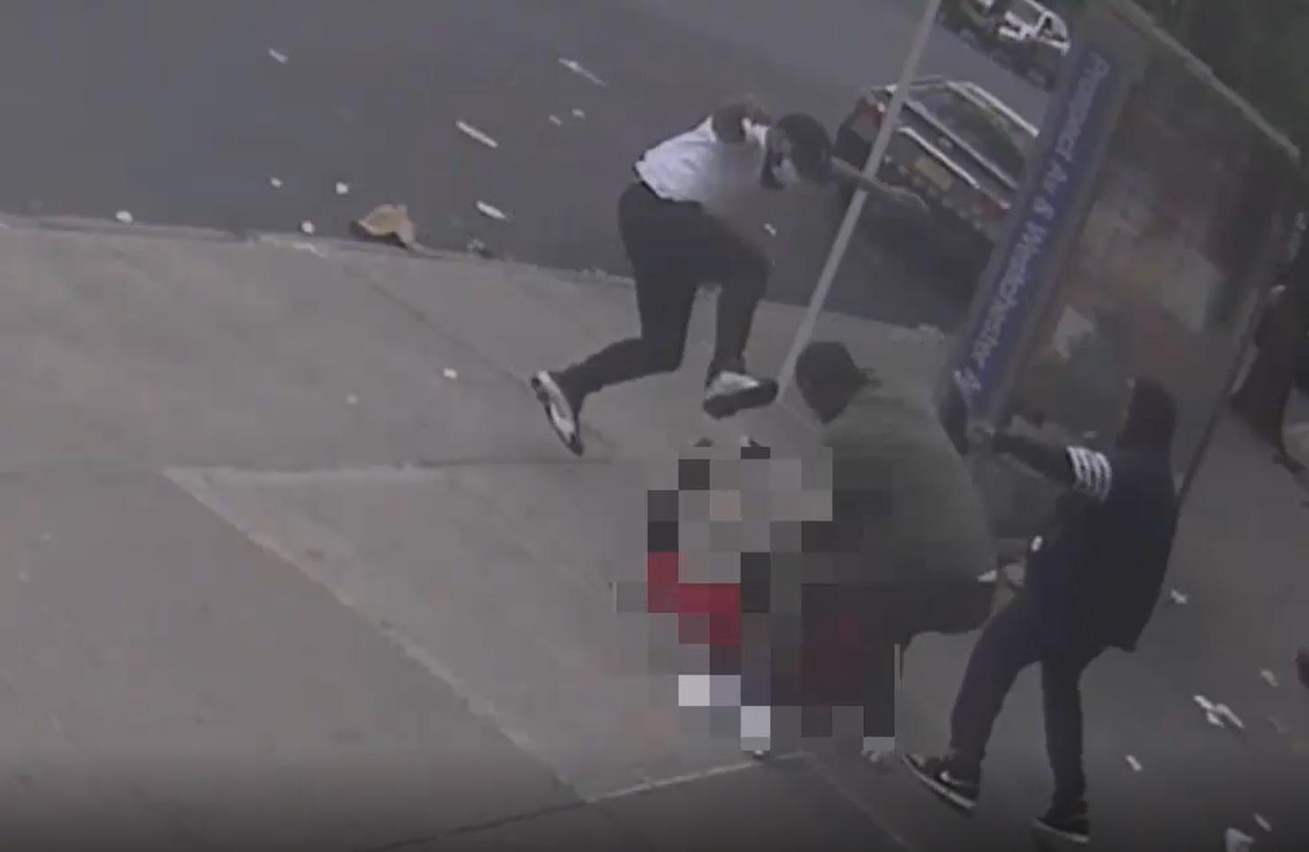 bronx sidewalk beating suspects