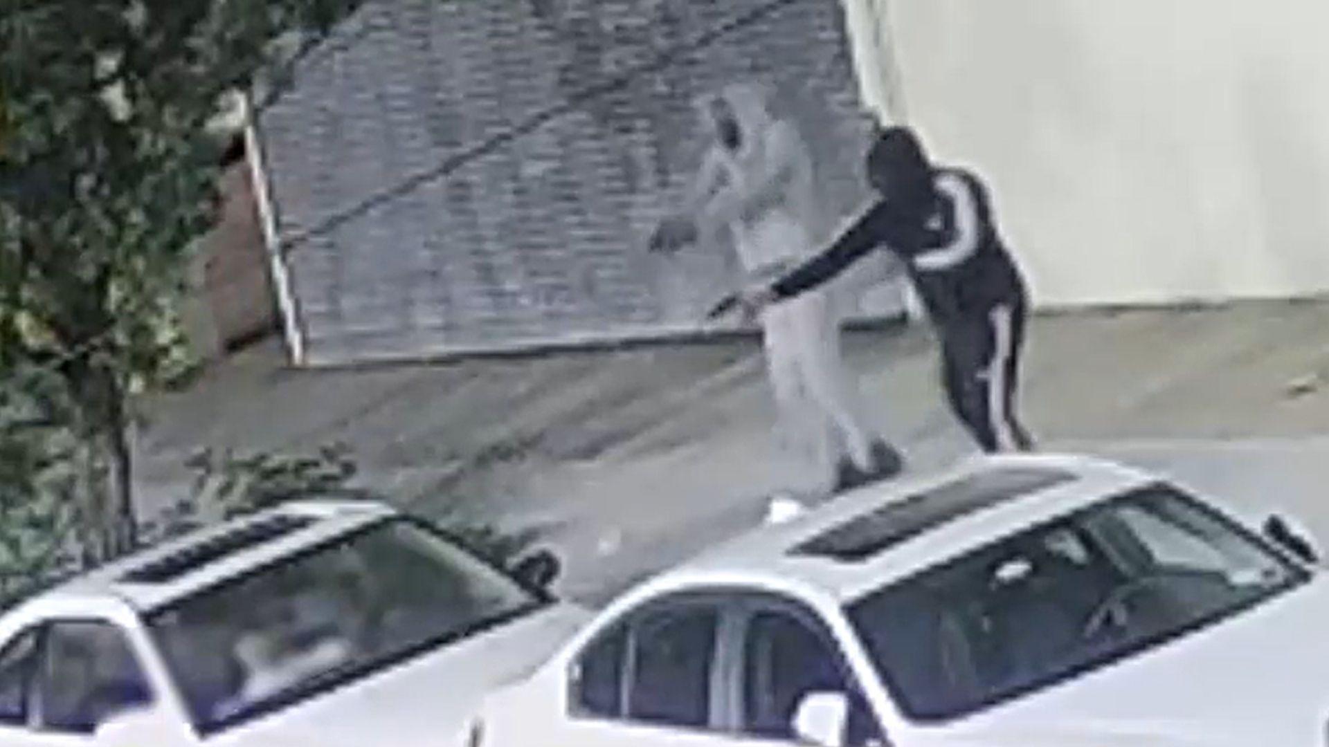 Men shoot into parked car on Brooklyn street