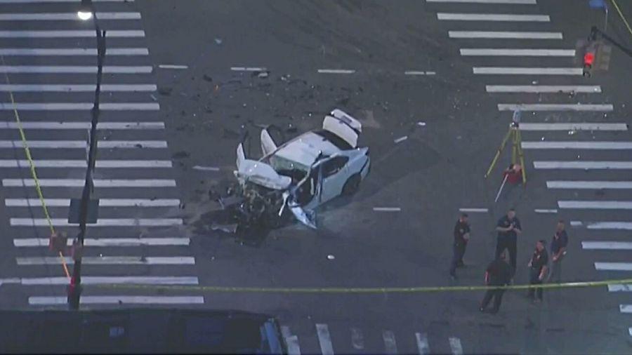 Car, tractor-trailer collide in Brooklyn