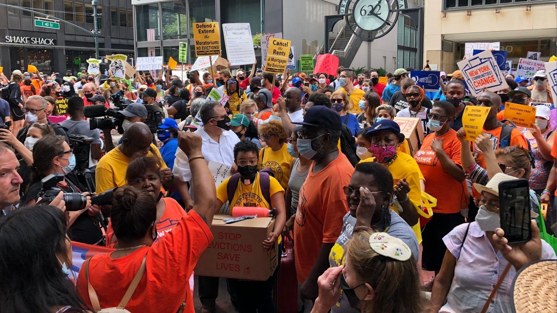 NY eviction protest