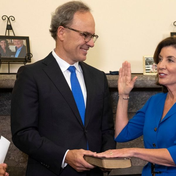 Gov. Kathy Hochul sworn-in as New York's 57th governor