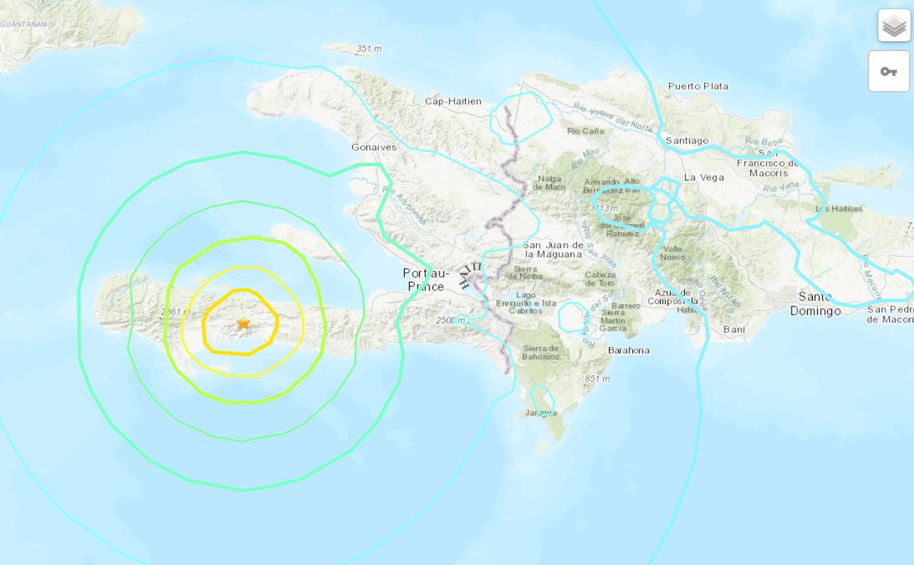 earthquake near Haiti