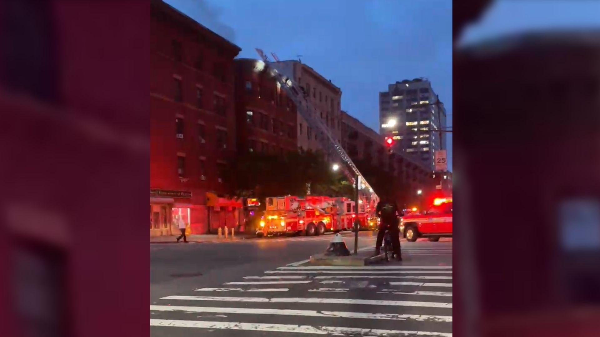 Harlem apartment fire