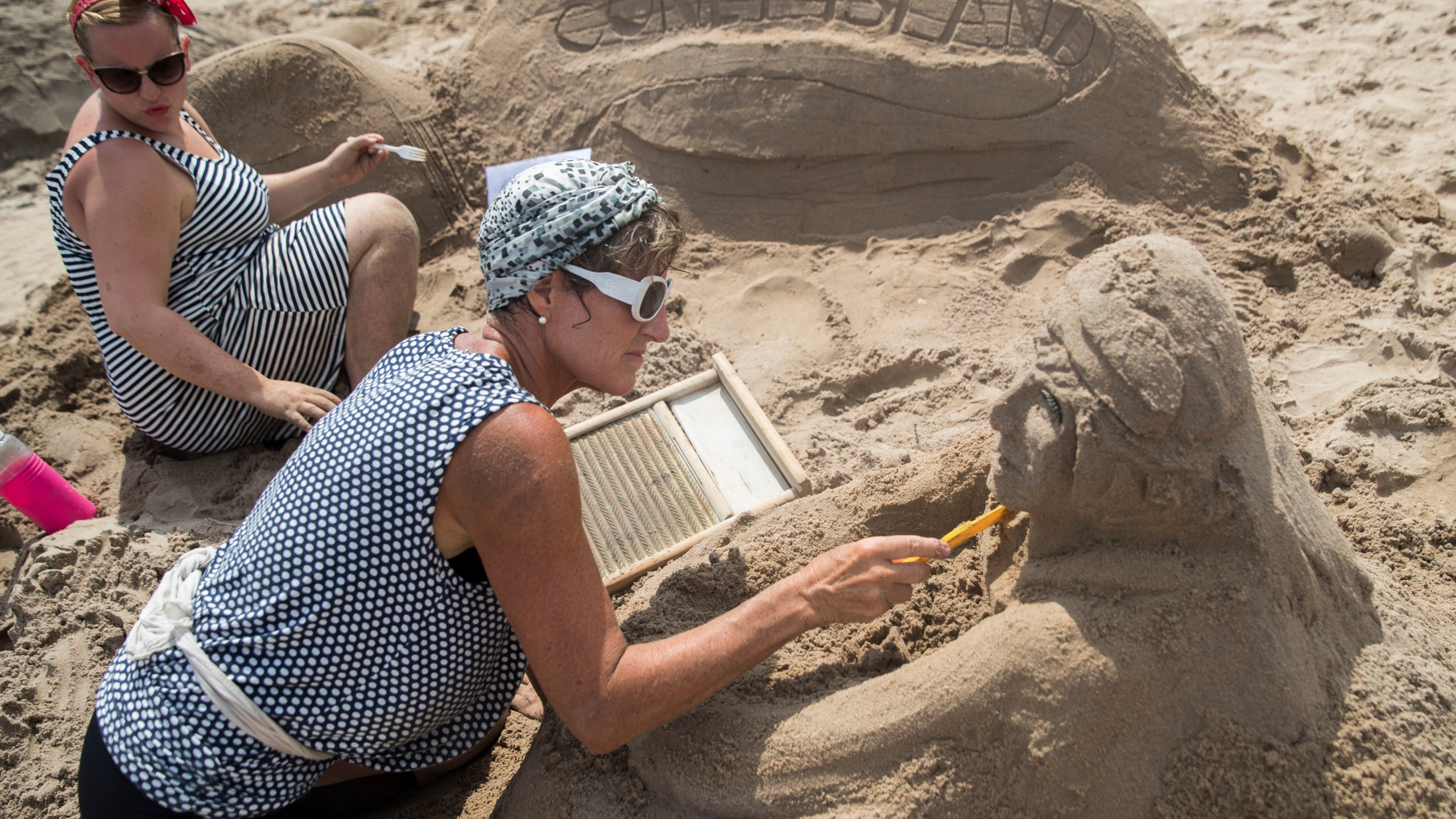 Coney Island Sand Sculpting