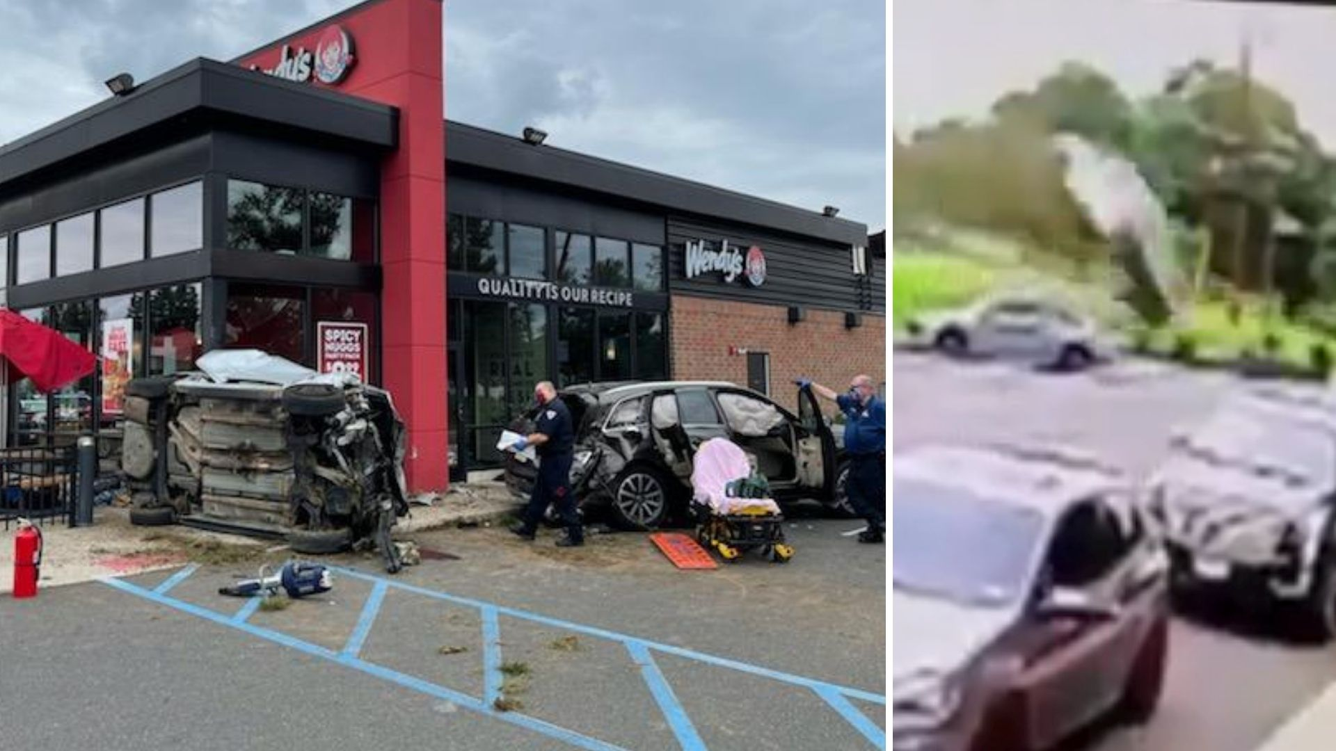 Car launched over Wendy's, crashes into New Jersey restaurant