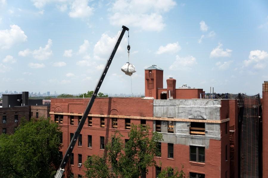 Jackson Heights crane